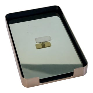 William Sklaroff Radius One Bronze Letter Tray For Sale