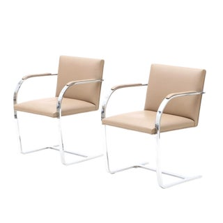 Vintage Mid-Century Brno Chairs by Mies Van Der Rohe- Pair For Sale