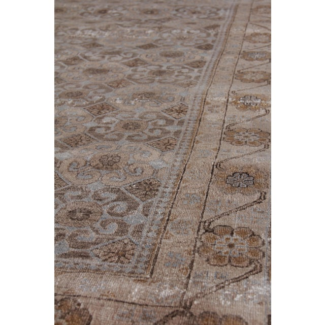 Fine Khotan Hand knotted Bamboo/Silk Camel/Ivory Rug-8'x10' For Sale In Los Angeles - Image 6 of 11