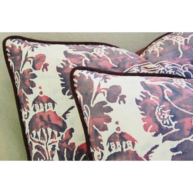 Designer Italian Fortuny Vivaldi Pillows - A Pair - Image 8 of 11