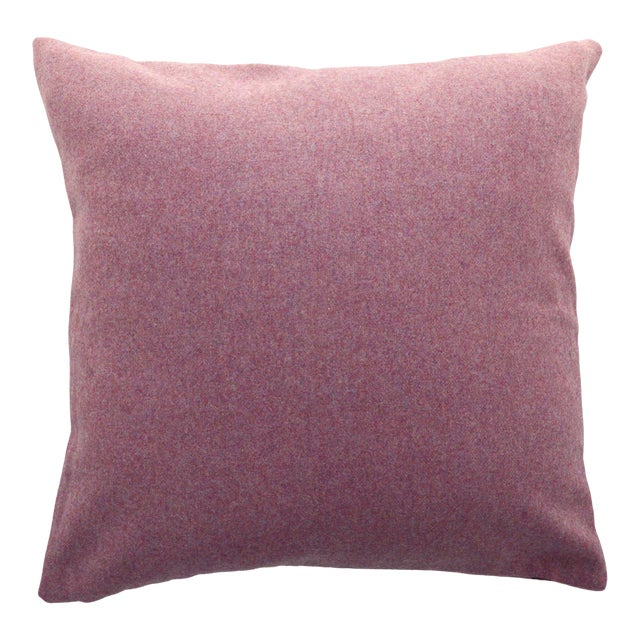 FirmaMenta Italian Solid Mauve Pink Sustainable Wool Pillow For Sale