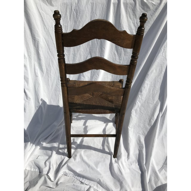 Antique Ladder Back Rush Seat Chair - Image 6 of 9 - Antique Ladder Back Rush Seat Chair Chairish