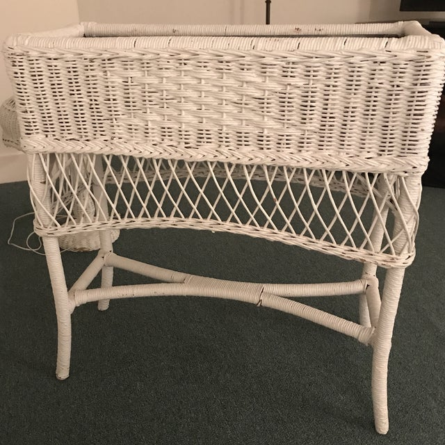 Vintage Wicker Plant Stand For Sale - Image 12 of 13