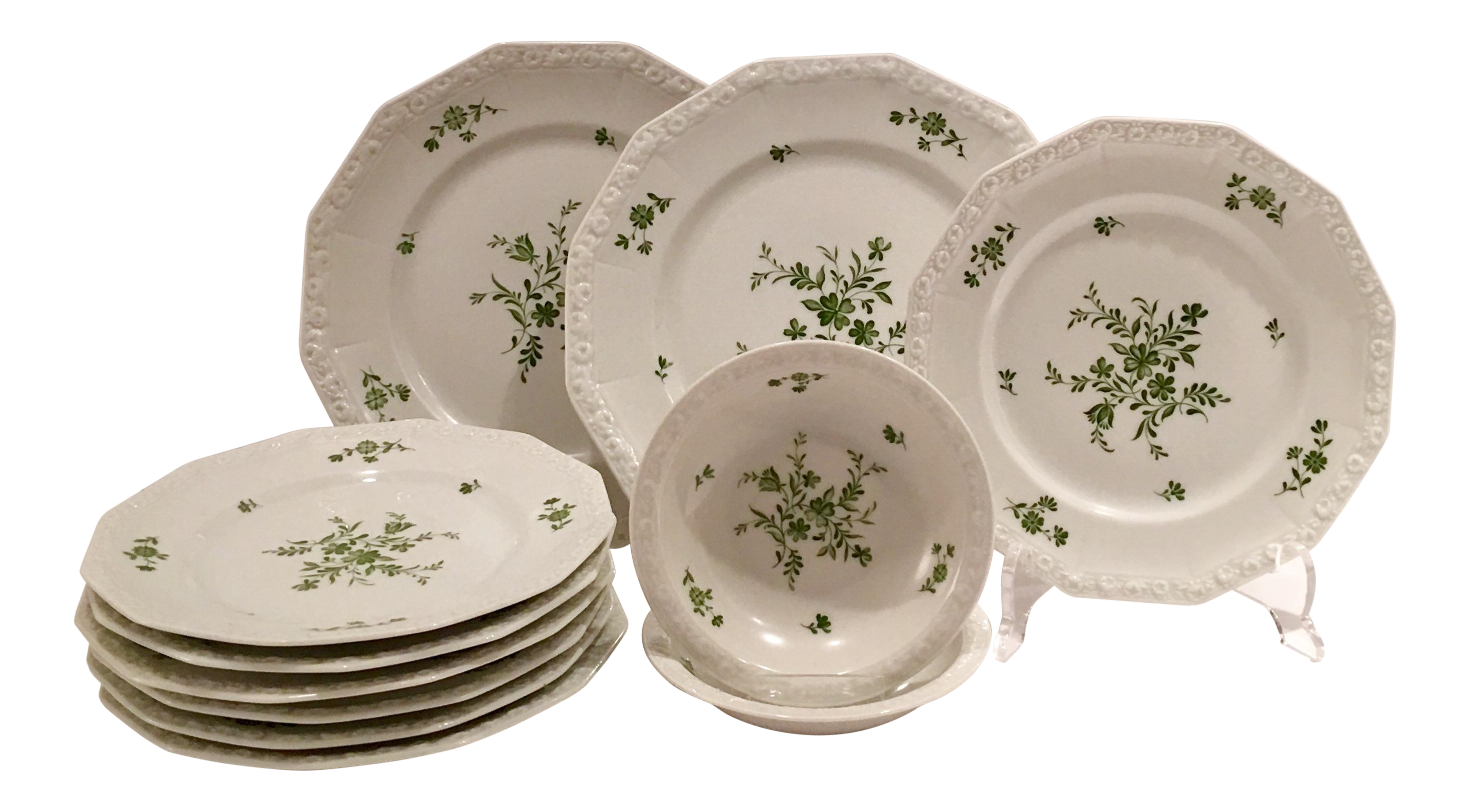 1940s Rosenthal Maria Green Patterned Dinnerware - Set of 11  sc 1 st  Chairish & 1940s Rosenthal Maria Green Patterned Dinnerware - Set of 11 | Chairish