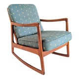 Image of 1960s Danish Modern Ole Wanscher for France and Son Teak Rocking Chair For Sale