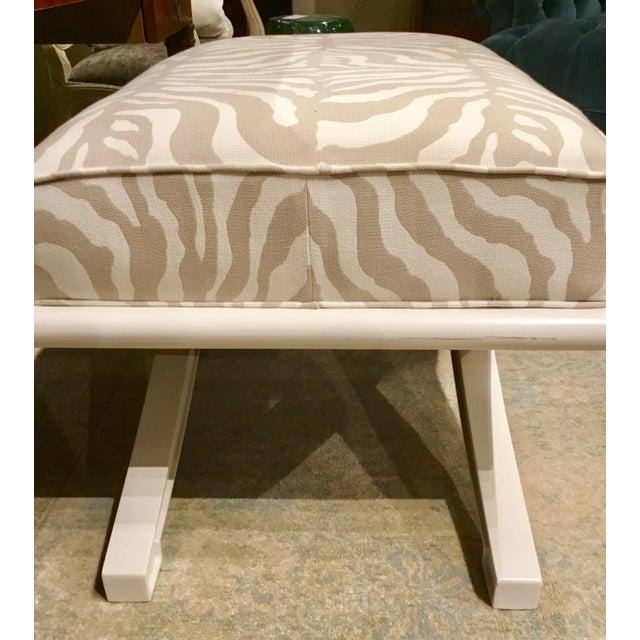 Vanguard Furniture Vanguard Custom X Bench For Sale - Image 4 of 6
