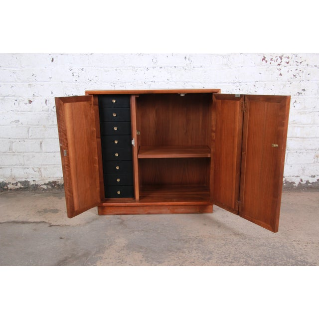 1960s Kipp Stewart for Drexel Declaration Mid-Century Modern Walnut Cabinet, 1965 For Sale - Image 5 of 12