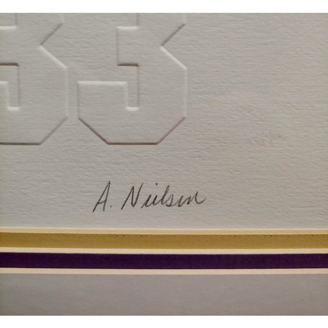 Drawing/Sketching Materials Los Angeles Lakers -Legends-Magic,West,Jabbar,Chamberlain-Signed Lithograph For Sale - Image 7 of 11