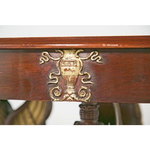 Neoclassical 19th Century Large Baltic Neoclassical Giltwood Center Table For Sale - Image 3 of 10