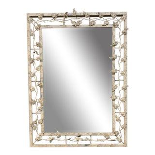 Carolina Mirror Company Painted Metal Wall Mirror For Sale