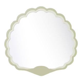 Fleur Home x Chairish Carnival Proteus Mirror in Cooking Apple Green, 36x33 For Sale