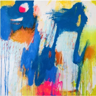 """Mirtha Moreno """"Moving On"""" Abstract Oil Painting For Sale"""