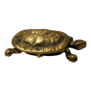 1960s Brass Turtle Trinket Box or Ash Tray For Sale