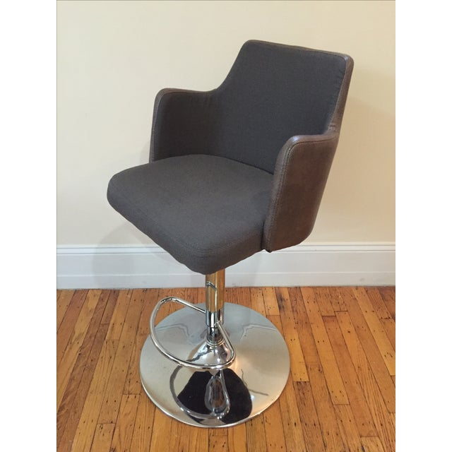 Leather Bar Stools - Pair - Image 3 of 3