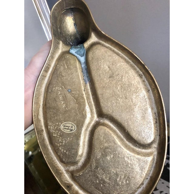Mid 20th Century 20th Century Hollywood Regency Brass Duck Divided Pocket Valet Catchall For Sale - Image 5 of 6