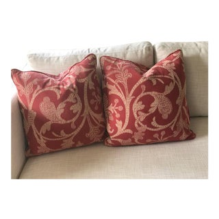Custom Made Throw Pillows - A Pair For Sale