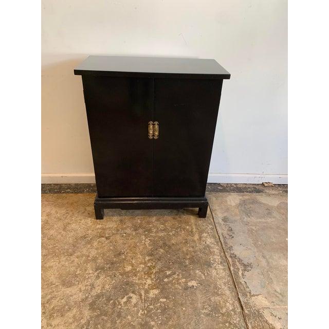 Metal Vintage Black Hallway Cabinet For Sale - Image 7 of 7