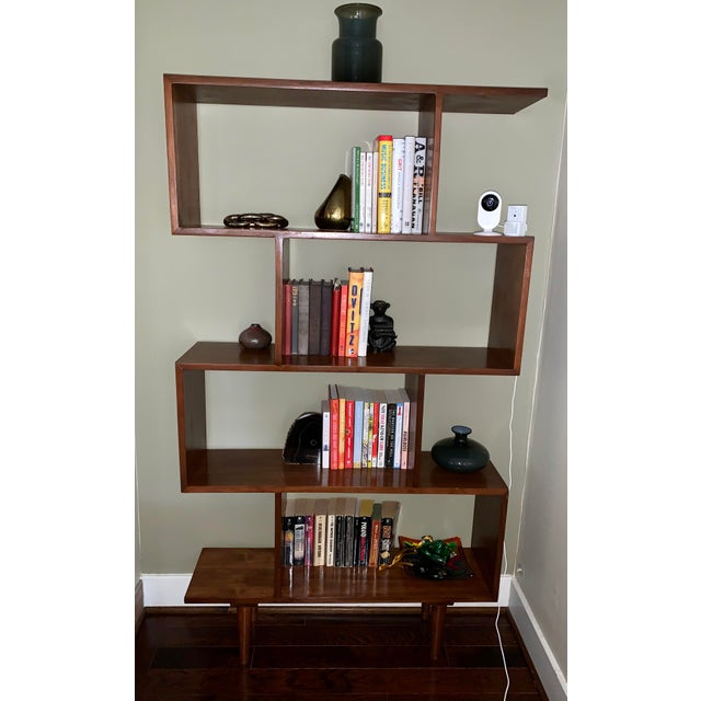 Originally purchased at Sunbeam Vintage, these bookshelves were custom made and real walnut. I purchased them only two...