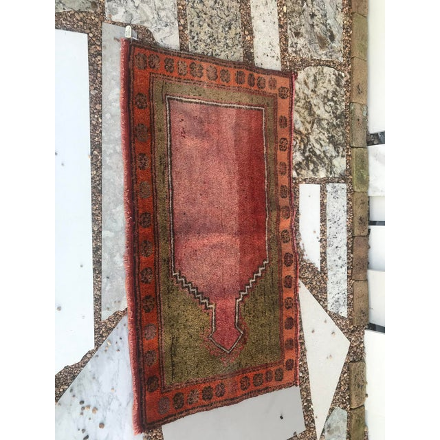 """1950s Hand Made Vintage Small Turkish Runner- 2'1"""" X 4'5"""" For Sale - Image 5 of 10"""