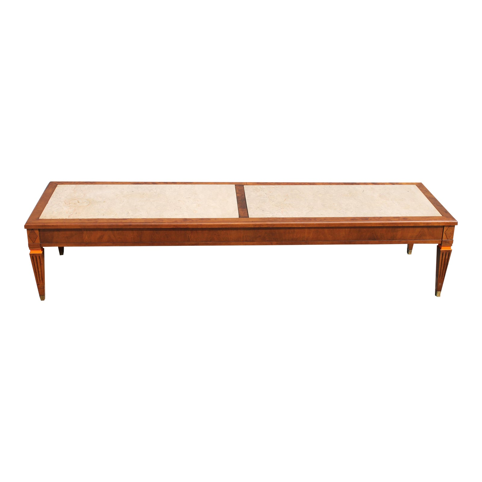 Strange Mid Century Modern Stone Top Coffee Table Ncnpc Chair Design For Home Ncnpcorg