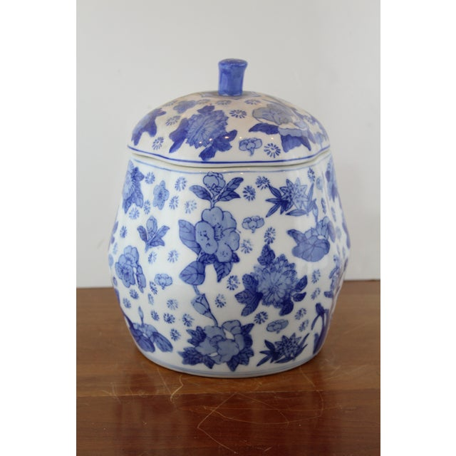 Blue Chinese Canton Gourd Jar For Sale - Image 8 of 9