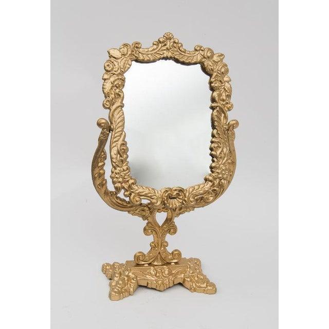 Antique Victorian Brass Mirror - Image 2 of 4