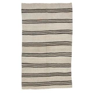 Vintage Hemp Striped Kilim Rug-4′4″ × 7′4″ For Sale