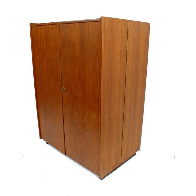 Danish Modern Danish Mid Century Modern Teak Fold-Out Desk For Sale - Image 3 of 4