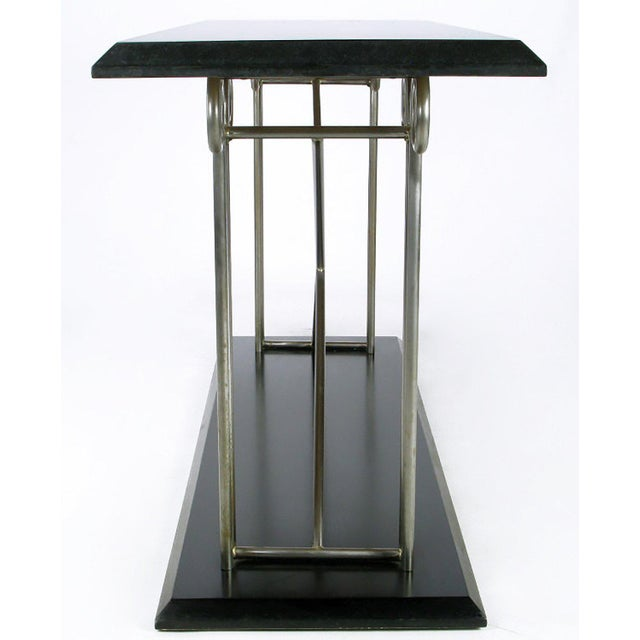 Thayer Coggin Milo Baughman Postmodernist Ionic Columns Console Table For Sale - Image 4 of 7