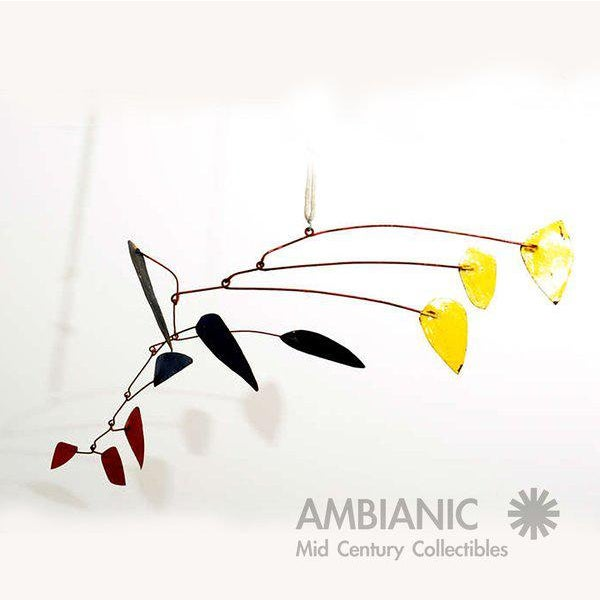 Mid 19th Century Mid-Century Modern Style Mobile Hanging Sculpture For Sale - Image 5 of 5