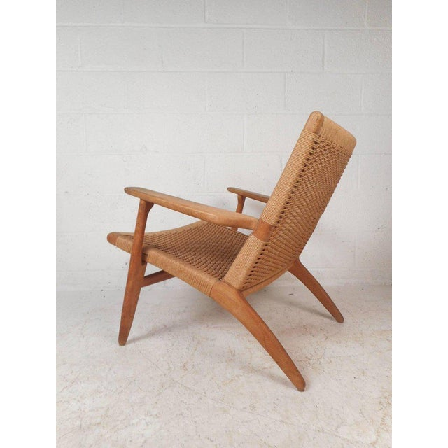 Mid-Century Modern Hans Wegner for Carl Hansen Mid-Century Modern Ch 25 Lounge Chair For Sale - Image 3 of 11