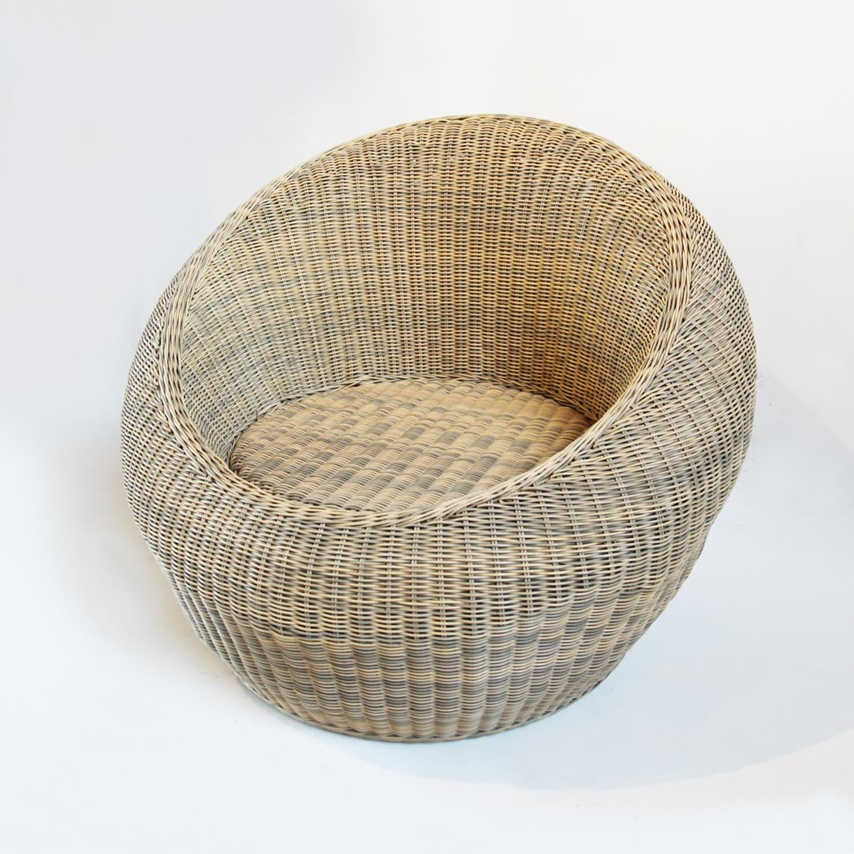 Outdoor Rattan Bubble Chair Chairish