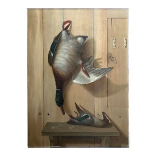 19th Century American Trompe l'Oeil Hunt Painting For Sale