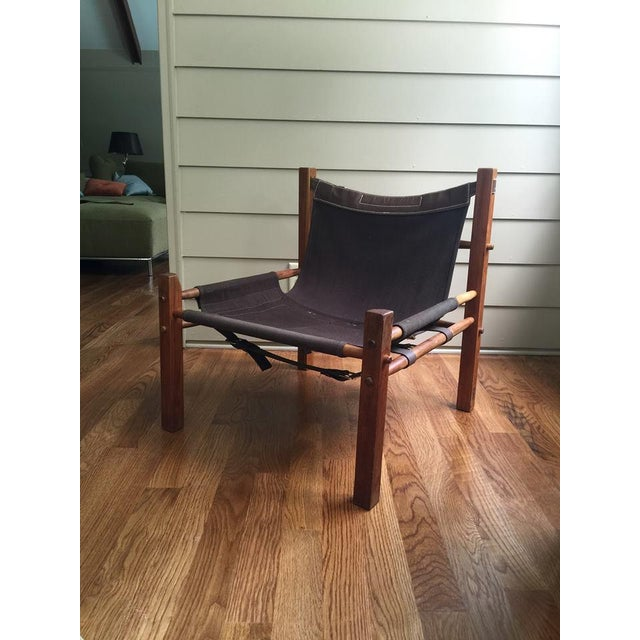 Arne Norell Style Campaign Sling Chair For Sale - Image 11 of 11