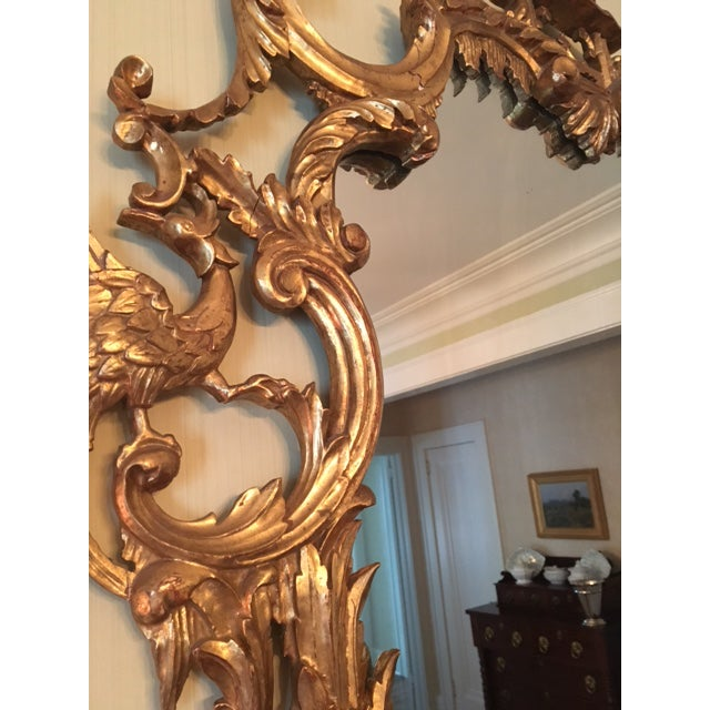 Wood Chinese Chippendale Style Giltwood Mirror With Pagoda Top For Sale - Image 7 of 11