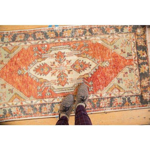 "Textile Vintage Distressed Oushak Rug Runner - 2'7"" X 5' For Sale - Image 7 of 10"