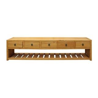 Light Natural Raw Wood Drawers Low Cabinet Table BedEnd Bench For Sale