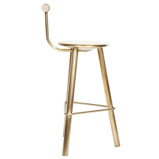 Customizable Set of 4 Erickson Aesthetics Brass Stool For Sale - Image 4 of 6