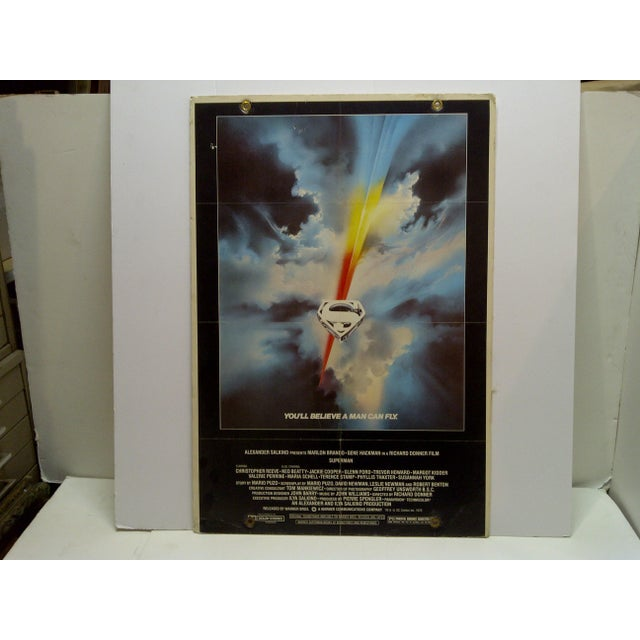 """""""Superman"""" Mounted Movie Poster For Sale In Pittsburgh - Image 6 of 6"""