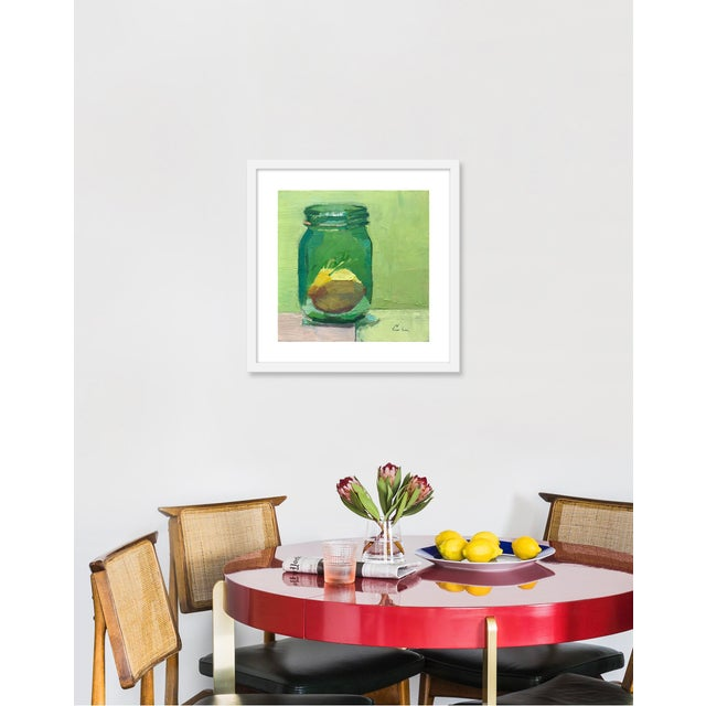 Giclée on textured fine art paper with white frame. Unframed print dimensions: 14.25x14.25. Caitlin Winner first picked up...