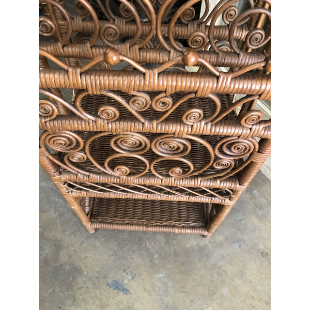 1970s Bamboo & Rattan Magazine Holder For Sale - Image 5 of 6