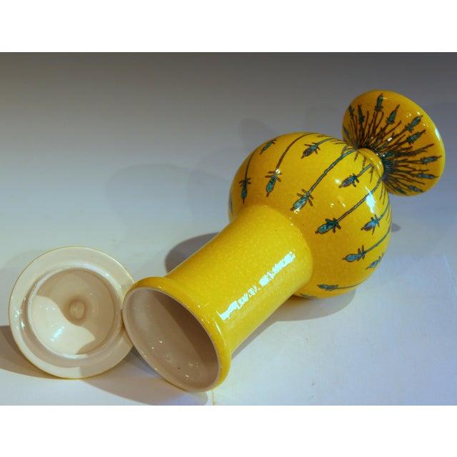 Italian Vintage Italian Mancioli Pottery Yellow Covered Raymor Jar For Sale - Image 3 of 11