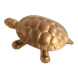 Brass Turtle Trinket Box For Sale