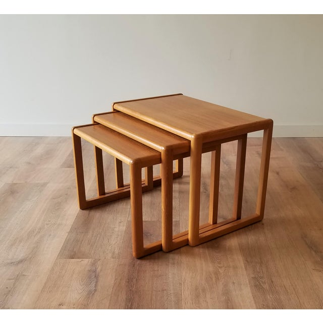 1960's Danish Teak Nesting Tables - Set of 3 For Sale - Image 11 of 11
