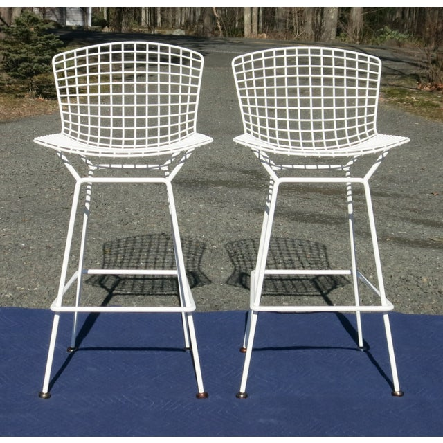 Knoll Bertoia Bar Stools- A Pair For Sale - Image 9 of 9