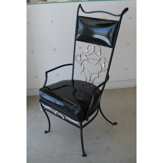 Black Iron High-Backed Chair - Image 2 of 3