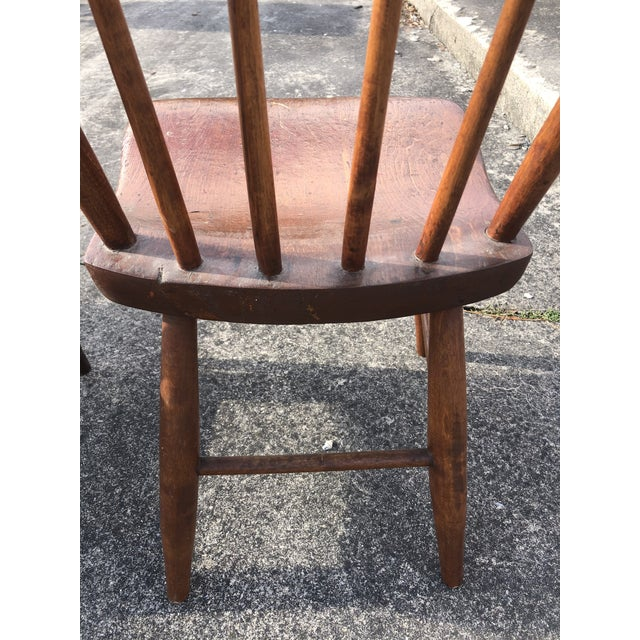 Vintage Rustic Schoolhouse Chairs - a Pair For Sale - Image 11 of 12