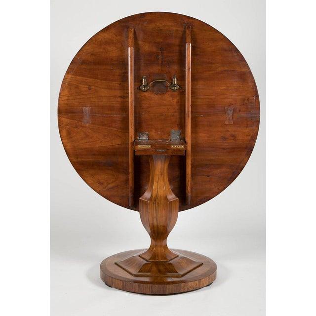 Fine Biedermeier Figured Walnut Centre Table For Sale In Boston - Image 6 of 8