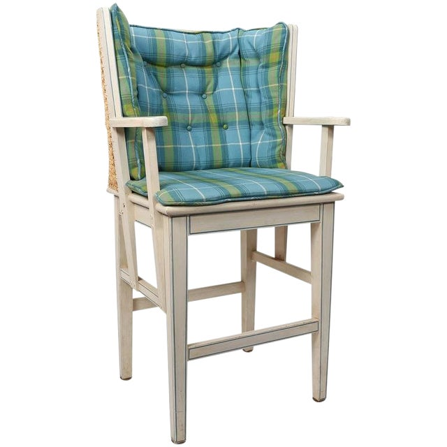 Painted Orkney Style Barstool For Sale