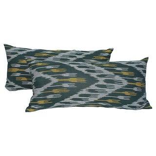 Ikat Tassel Body Pillows - Pair For Sale